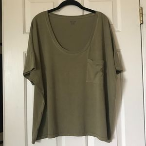 Madewell Olive Relaxed Fit Cotton T-Shirt XXL